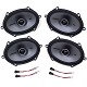 1999-2004 Mustang Kicker KSC68 6x8 Door Speaker Upgrade Kit