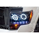 09-14 F150 & Raptor Recon Smoked CCFL Halo Projector Headlights 12