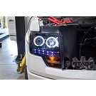 09-14 F150 & Raptor Recon Smoked CCFL Halo Projector Headlights 13