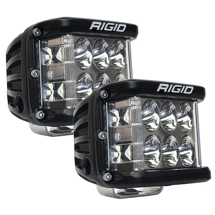 Rigid Industries D-SS Side Shooter Pro LED Light - White - Driving - Pair