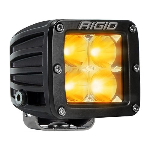 Rigid Industries Dually LED Light - Amber - Spot - Single