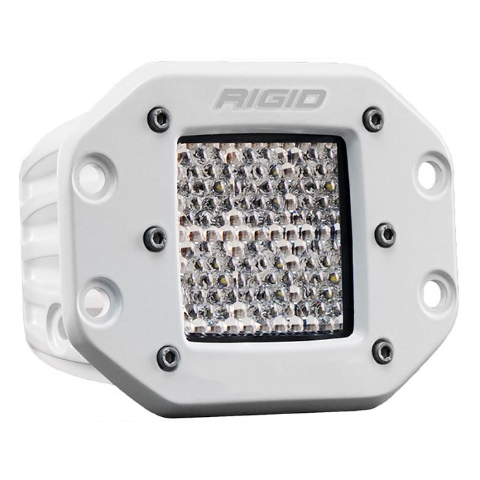 Rigid Industries Marine D2 Pro LED Lights - White - Flush Mount - Diffused - Single