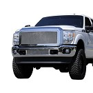 11-16 F250 & F350 T-Rex Polished Mesh Upper Grille 01