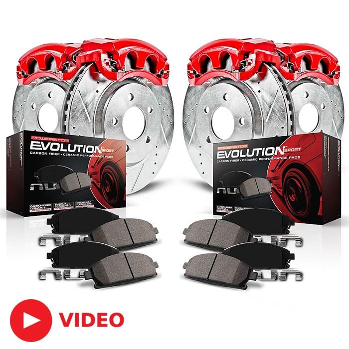 Power Stop Brakes >> 2005 2010 Mustang V6 Powerstop Complete Brake Kit Calipers Rotors