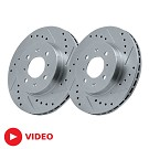 05-10 Mustang GT StopTech C-Tek  Drilled/Slotted Front Rotor Set (Fits 11-14 V6) 01
