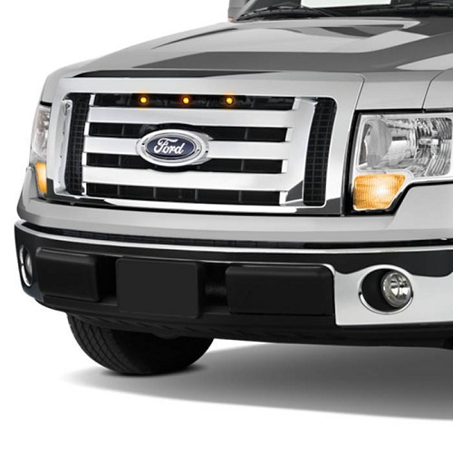 2009-2012 F150 Custom Auto Works Raptor Style LED Amber Grille Light Kit