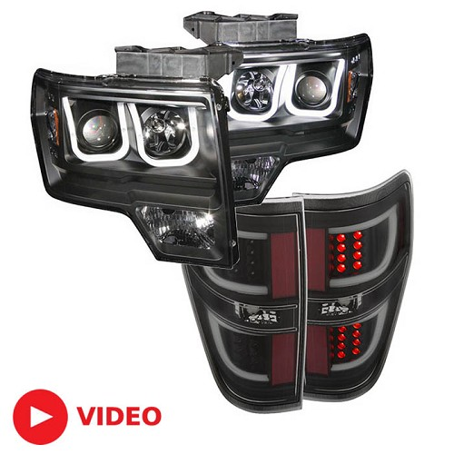 2009-2014 F150 & Raptor ANZO U-Bar Headlight and G2 LED Taillight Package