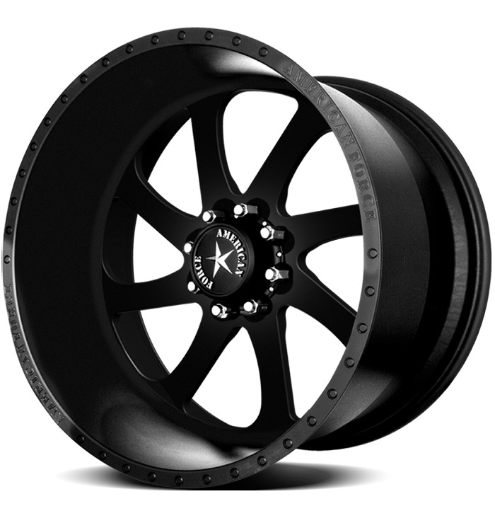 1999-2019 F250 & F350 American Force 22x10 Blade SS8 Wheel - Flat Black/Machined