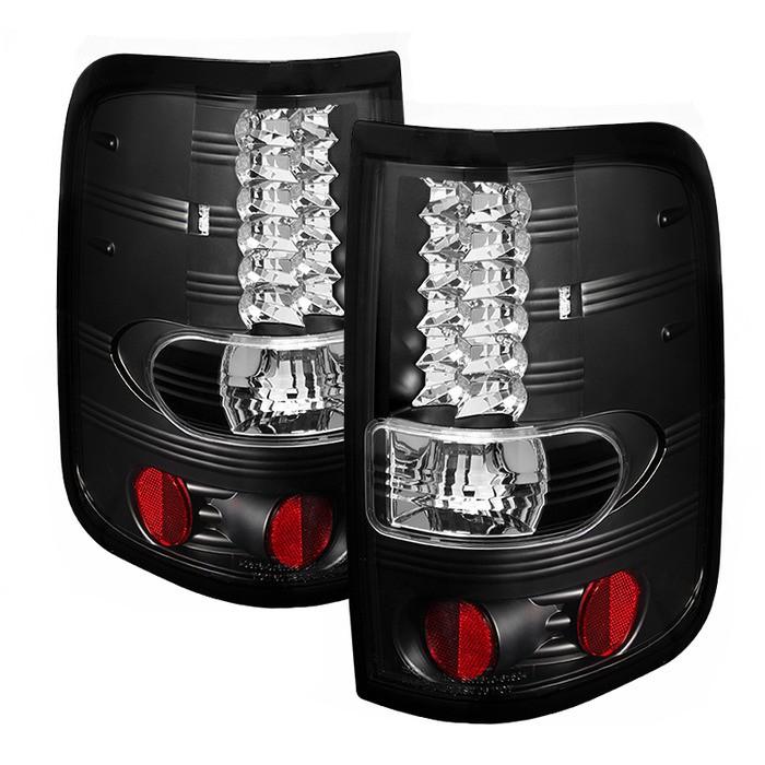 2016 F150 Tail Lights >> 2004-2008 F150 Spyder LED Tail Lights (Black) SL5003249
