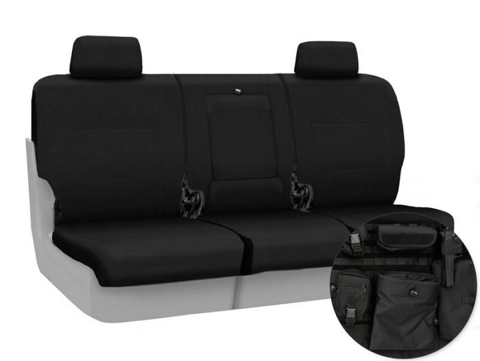 2011-2012 F150 CoverKing Ballistic Cordura Rear Seat Covers (Black)