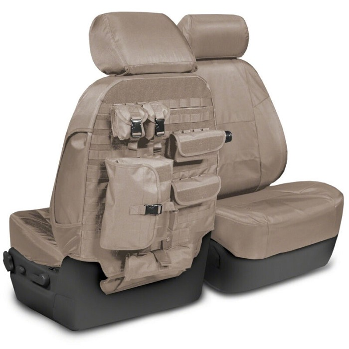 2015-2020 F150 CoverKing Ballistic Cordura Front Seat Covers (Cashmere)