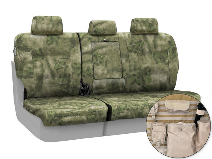 2009-2010 F150 CoverKing Ballistic A-TACS Foliage/Green Camo Rear Seat Covers
