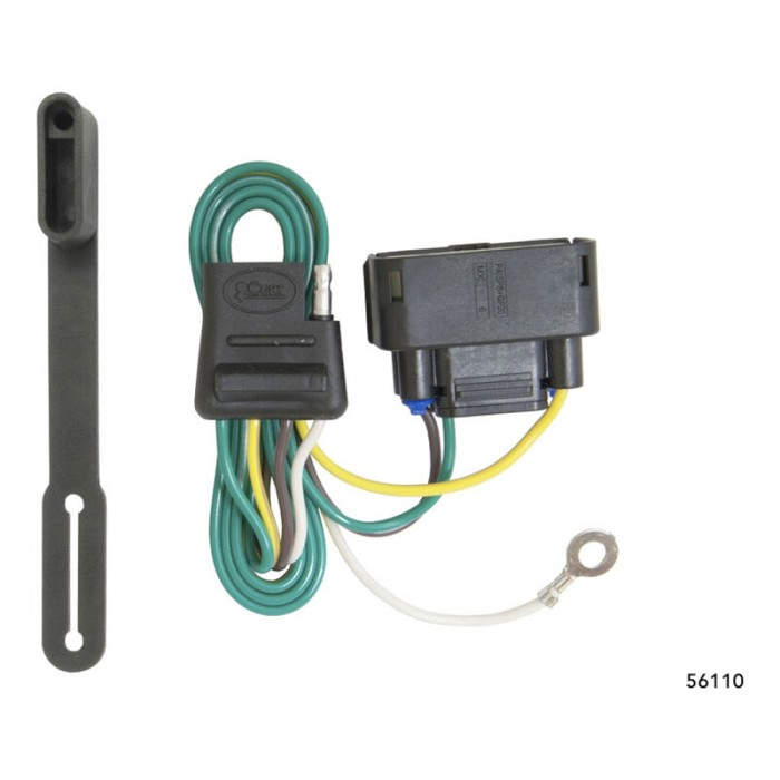 2010-2016 f150 curt rear trailer t-connector wiring harness (w/o factory  hitch) cur56110