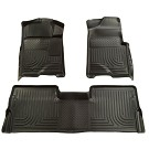 2009-2014 F150 & Raptor SuperCab Husky WeatherBeater Front & Rear Floor Mats (Black) 01