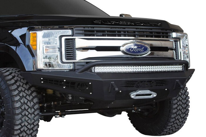 2017 2020 F250 Amp F350 Add Honey Badger Front Winch Bumper