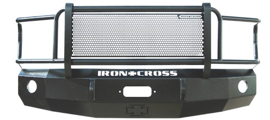 2008-2010 F250 & F350 Iron Cross Winch-Ready Replacement Front Bumper - Full Grille Model