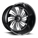1999-2019 F250 & F350 Fuel Forged FF46 22X10 Wheel - Black & Milled 01