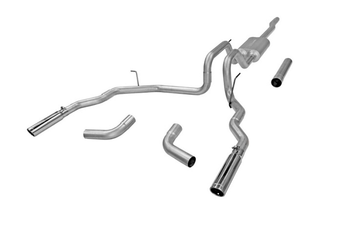 2004-2008 F150 Flowmaster Force II Dual Exit Cat Back Exhaust (Aluminized)