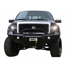 2009-2014 F150 EcoBoost Iron Cross Replacement Front Bumper - Push Bar Model (Winch Ready) 01