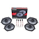 2004-2014 F150 & Raptor Kicker KSC68 6x8 Door Speaker Upgrade Kit - CrewCab & SuperCab 02