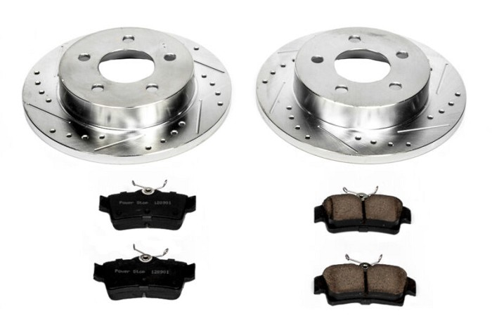 94-04 Mustang GT/V6 Power Stop Rear Brake Rotors/Z23 Pads Set