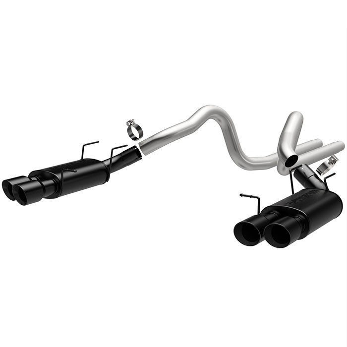 13-14 Mustang GT500 Shelby MagnaFlow Cat-Back Exhaust - Black Tip (Street)