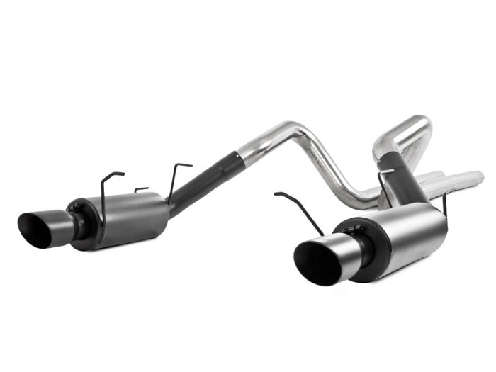 2011-2014 Mustang GT MBRP Street Cat-Back Exhaust Kit (Black)