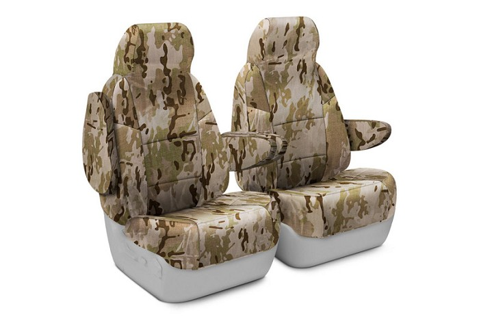 2013-2014 F150 CoverKing Ballistic A-TACS Arid/Urban Camo Front Seat Covers