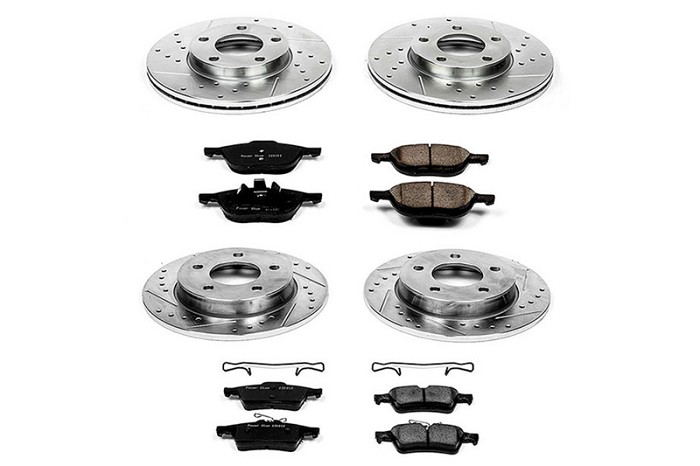 2011-2012 Taurus SHO Performance Package Power Stop Z23 Complete Brake Kit (12.8 Inch Rotors)