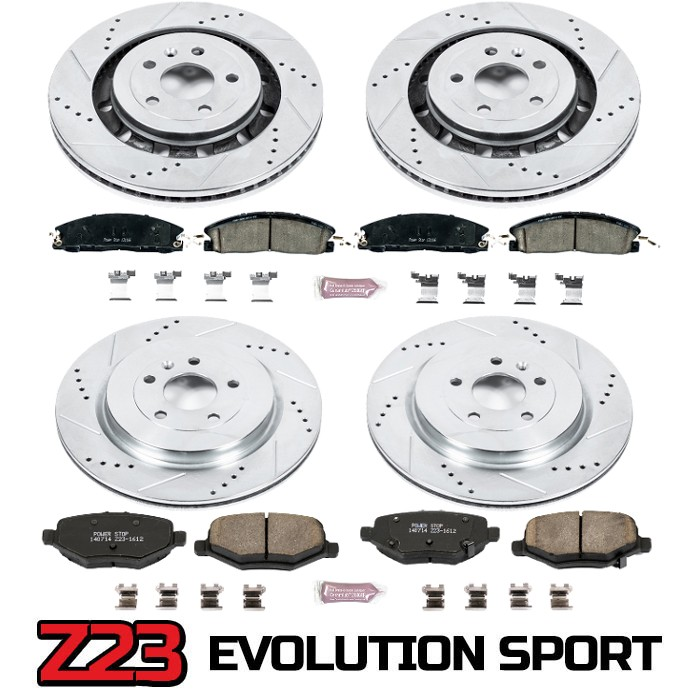 2010 Taurus SHO Power Stop Z23 Complete Brake Kit (12.79 Inch Rotors)
