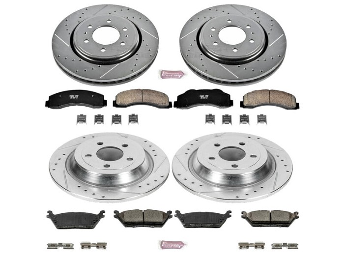 2015-2017 F150 & Raptor Power Stop Z23 Full Brake Kit (Electronic Parking Brake)