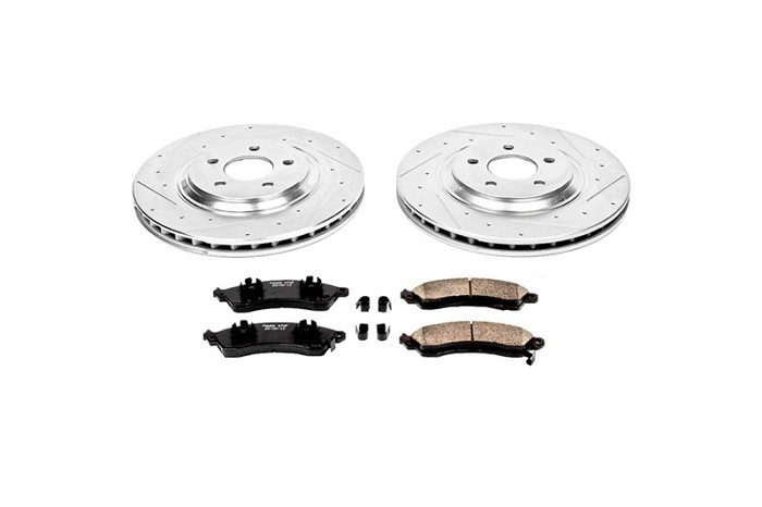 2013-2014 Shelby GT500 Power Stop Z26 Street Warrior Front Brake Package