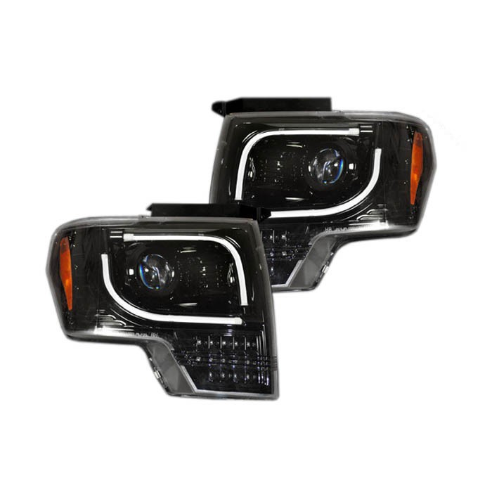 2009-2014 F150 & Raptor Recon OLED Projector Headlights (Black)