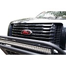 2009-2014 F150 Oval Blackout Red Lettering Overlay Badge Set (No Camera) 02