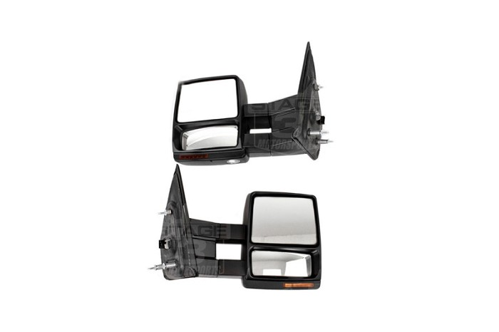 2007 2014 F150 Tow Mirrors With Puddle Lights Black