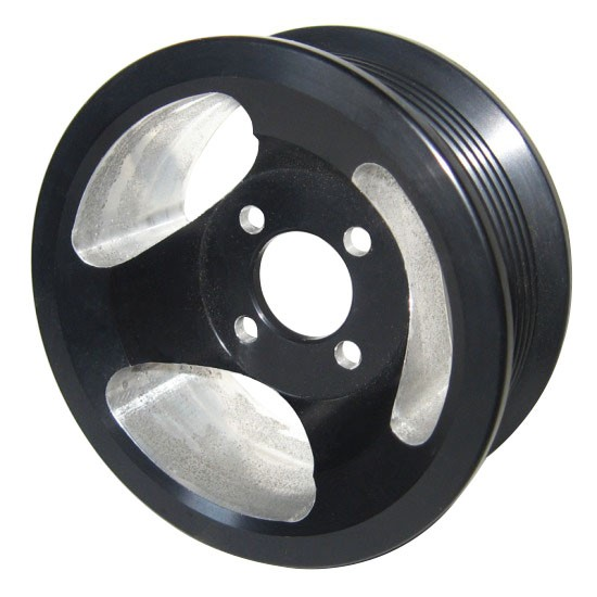 Whipple 6-rib Supercharger Pulley (Black)