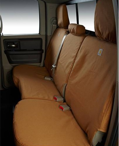 2015 2017 f150 covercraft carhartt custom second row seat covers brown ssc8445cabn. Black Bedroom Furniture Sets. Home Design Ideas