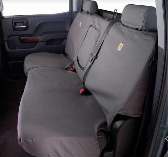 Fantastic 2004 2010 F250 F350 Crew Cab Carhartt Second Row Seat Covers Gravel W 60 40 Split Bench Seat Adjustable Headrests Fold Down Console Cup Andrewgaddart Wooden Chair Designs For Living Room Andrewgaddartcom