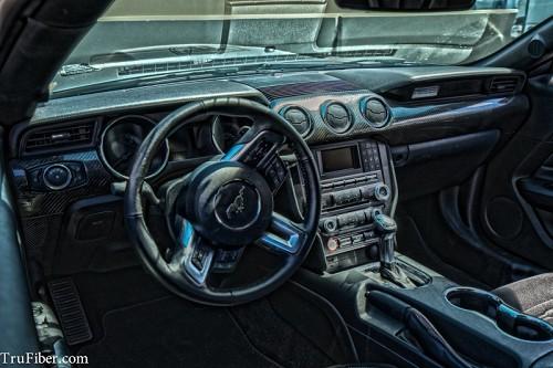 2017 Mustang Trufiber Carbon Fiber Lg268 4 Piece Dash Kit Tc10026