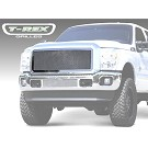 11-16 F250 & F350 T-Rex Polished Mesh Upper Grille 02