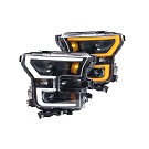 15-17 F150 ANZO Black Switchback Outline Headlights 01