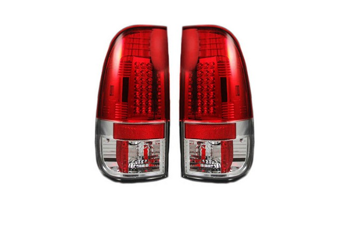 2008-2016 F250 & F350 Recon LED Tail Lights (Red)